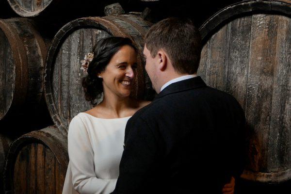 Novia y novio el dia de su boda