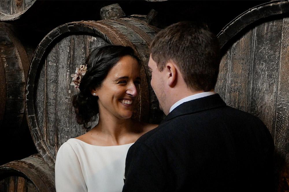 Novia y novio en su boda