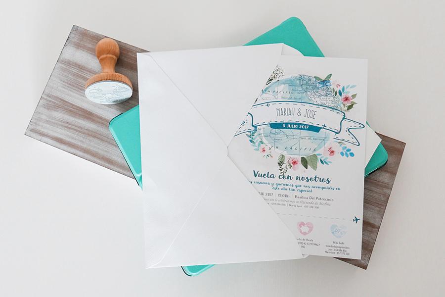 Invitaciones diseño jose y maria