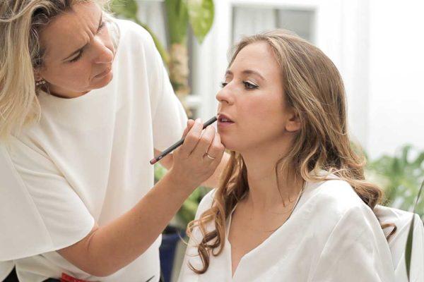 Preparacion de la novia en casa